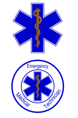 Star of life emt symbols Vector