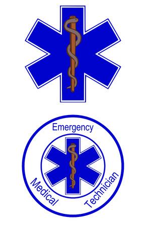 Ster van leven EMT symbolen