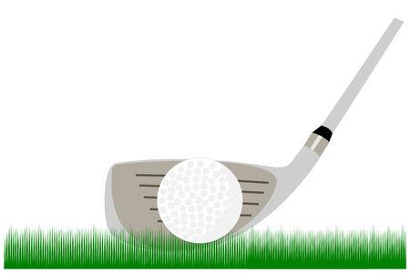 a ninie iron and golf ball