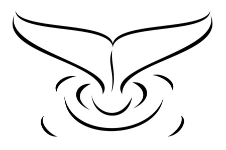 Een walvis staart tribal tattoo Stock Illustratie