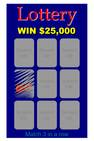 A scratch off lottery ticket Vector