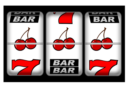 A close up of a slot machine winner Stock Vector - 4593494