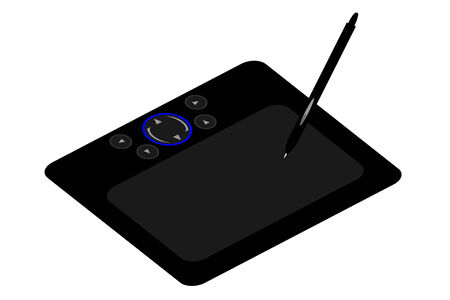 A computer drawing tablet