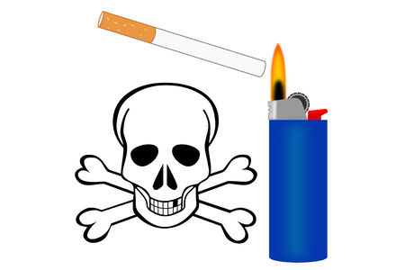 danger: The danger of lighting up a cigarette