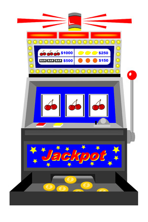 A winning slot machine with triple cherries Stock Vector - 4657420