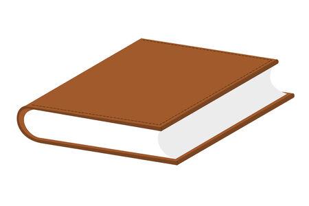 Een boek met leder overtrokken
