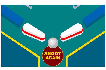pinball: A close up of a pinball machine