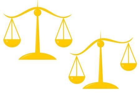De schalen van justitie