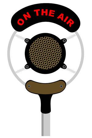 omroep: Een oude antieke microfoon