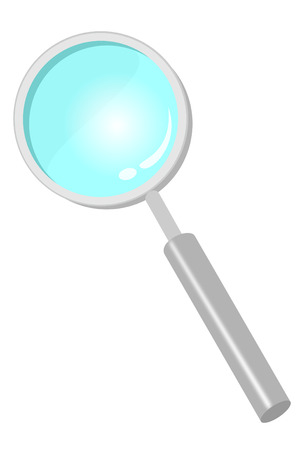 A magnifying glass isolated on white Ilustracja