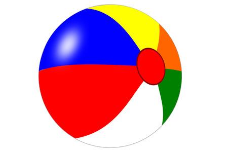 muti: A isolated muti colored beachball