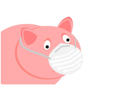 A pig with the swine flu Stock Vector - 4767772