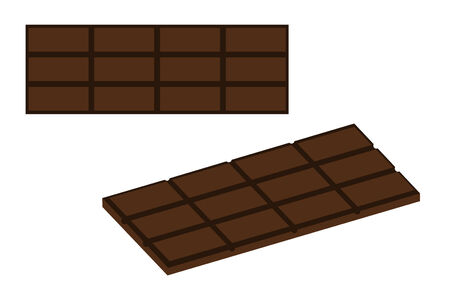 A isolated milk chocolate bar