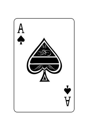 as de picas: Un as de picas aislados naipe