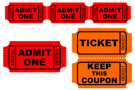 admit: Admission and raffle tickets
