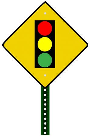 stoplight: Traffic light sign against white background