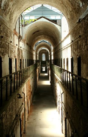 A old historic prison cellblock Stock Photo - 5238804