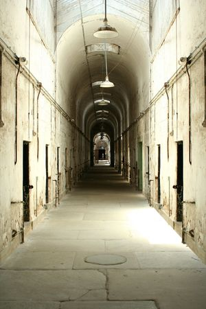 A old prison cell block photo