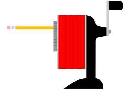 A red and black Pencil sharpener Illusztráció