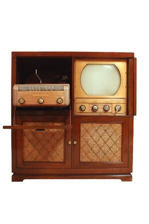 retro tv: A Vintage television from 1949 Stock Photo