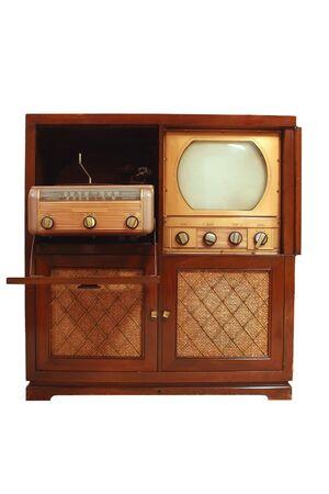 Een vintage televisie uit 1949  Stockfoto
