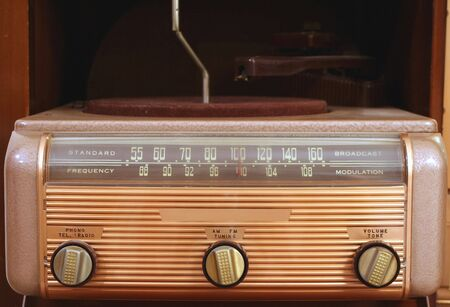 A Vintage radio and phonogragh photo
