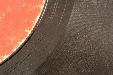 Een oude record album macro  Stockfoto