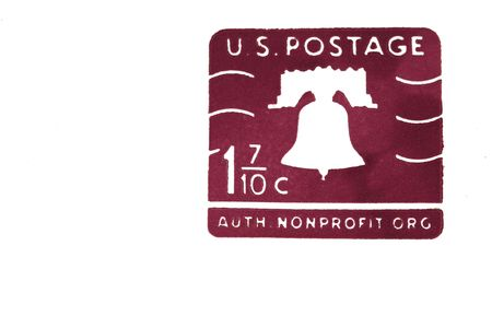 postage stamp: A isolated US postage stamp