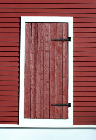 A Red barn door photo