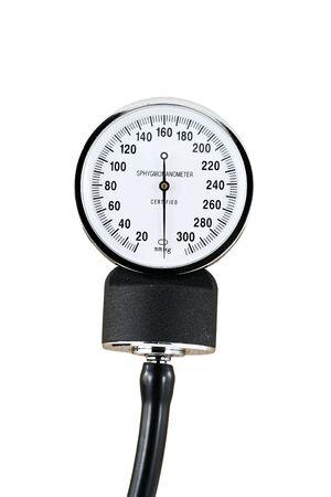 ipertensione: Un misuratore di pressione per la presa di pressione sanguigna