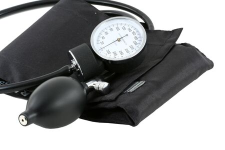 cuff: A Sphygmomanometer bulb and cuff for taking blood pressure