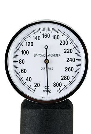 systolic: A sphygmomanometer for taking blood pressure Stock Photo