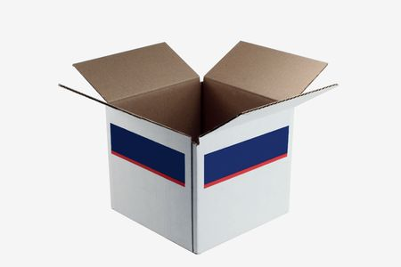 A isolaged Open cardboard box