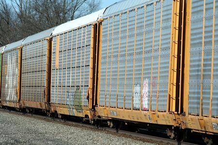 Doen トラックを走行する列車 写真素材