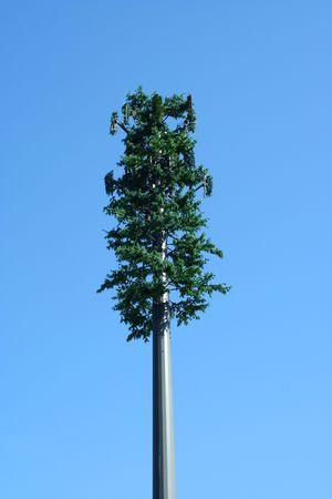 나무 휴대 전화 탑 스톡 콘텐츠