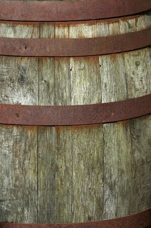 Close up of a Old wooden barrel