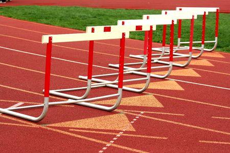 Een track competitie horden  Stockfoto
