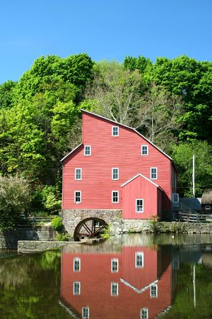 grist mill: A old grist mill on a river