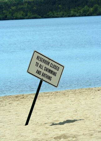 no swimming sign: A No swimming sign Stock Photo