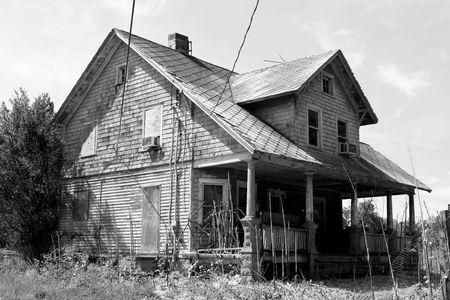 Een oude verlaten huis