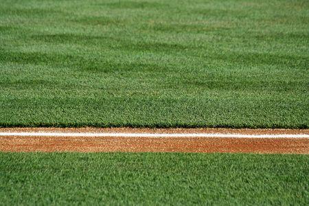 Een basis lijn op een honkbalveld