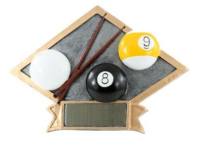 billiards: A islolated Billiards plaque