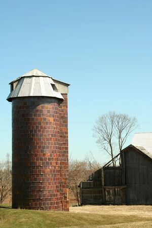 a Old barn and silo