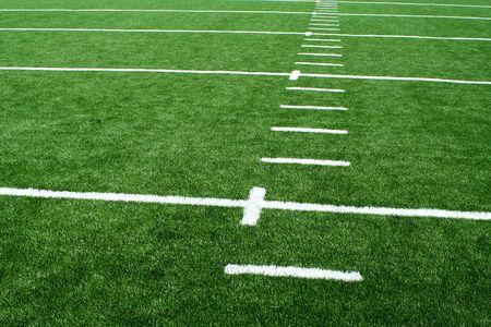Een voetbal veld  Stockfoto