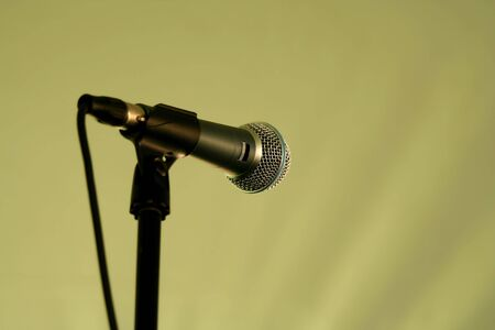 A  Microphone on a stand Stok Fotoğraf