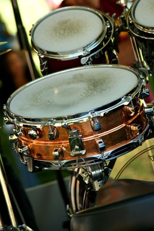 A close up of a Snare drum