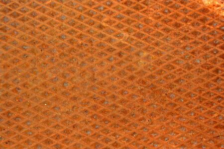 diamondplate: Una texture di sfondo Rusty diamondplate