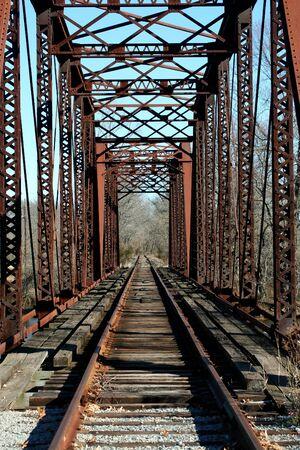 A Old railroad bridge Banco de Imagens