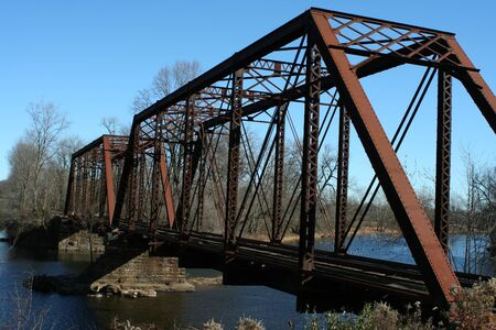 A Old railroad bridge Фото со стока