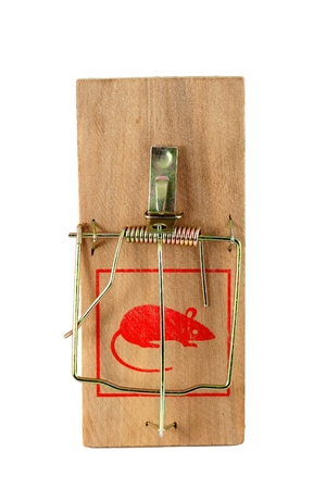 Isolated mouse trap on white
